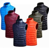 Wholesale men down vest orange - Men Winter Sleeveless Vest Male Down Coat Men's Jacket Warm Vest