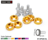 Wholesale Washer Wholesale - TANSKY - D1 Spec 6PCS SET M8 Hex Fasteners Fender Washer Bumper Engine Concave Screws JDM D1-DP02D