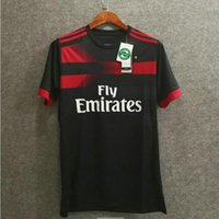 Wholesale Kaka Milan - ^_^ Wholesale 17 18 milan away black fans soccer jerseys thai custom name number soccer uniforms football clothing BACCA KAKA L.ADRIANO