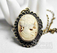 Wholesale Wholesale Cameo Watches - Free Shipping! Cameo Watch Necklace! Wholesale high fashion alloy cameo queen pocket watch necklace