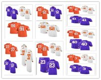 Cheap personalizzato Clemson Tigers College Football Limited 3 Scott 23 Ellington 37 Jackson 40 Branch 41 Simmons 44 Goodson 52 Spence Jersey XS-5XL