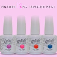 Wholesale Neon Uv Gel - 12pcs soak off neon colors lacquer led uv soak off nail gel polish gelish nail polish