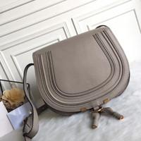 Wholesale mini saddle bags resale online - Famous Fashion Brand Design Women Bag High Quality Genuine Cowskin Leather Cloe Mini Marcie Bag Shoulder Messenger Saddle Bag
