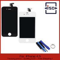 Wholesale Iphone 4s Digitizer Frame Bezel - For iPhone 4S LCD Display + Touch Screen digitizer Bezel Frame with Tools Replacement Part Assembly Free shipping A3