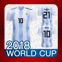 f1015223c Soccer Men Short 2018 World Cup argentina soccer Jerseys 2018 MESSI home DI  MARIA AGUERO KOMPANY