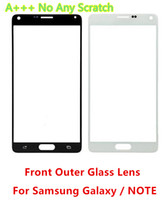 Wholesale S3 Mini Outer Screen - For Samsung Galaxy S5 S5 Mini A+++ glass lens i9600 Glass lens s5 lcd screen front outer glass for samsung s3 s4 note 2 note 3 4 s3 s4 mini