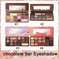 Wholesale Wholesale Hot Chocolate Mix - lowest price  High quality HOT new makeup MIX chocolate bar  semi-sweet   bonbons  Sweet Peach eyeshadow palette
