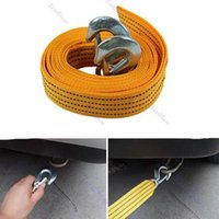 Wholesale Duty Recovery - Wholesale-F98 4M 5 Ton Car Tow Cable Heavy Duty Towing Pull Rope Strap Hooks Van Road Recovery