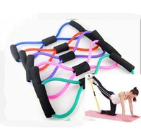 Wholesale Rally Equipment - Resistance Bands Yoga Strap Belt Yoga Supplies 8 Characters Pull Rope Rally Chest Expander Pilates Body Building Fitness Equipment Tool