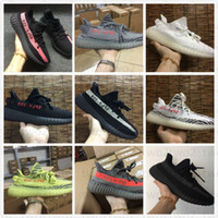 Wholesale Tinted Pvc - 2017 Boost 350 v2 Boost Cheap Kanye West Semi Frozen Yellow Zebra Beluga 2.0 Blue Tint Kanye Shoes 350 Boost With Box