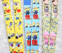 Wholesale Despicable Cell - New hot 3 cartoon styles Despicable Me Minions Children's Lanyard Keys ID Badge Neck Cell Phone Strap