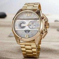 Wholesale Big Metal Pin - Fashion Brand Men's Big Case Mutiple Dials style steel metal band Quartz Wrist Watch
