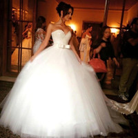 Wholesale Strapless Bling Wedding Ball Gown - 2016 Luxury Beaded Ball Gown Princess Wedding Dresses Sweetheart Backless Crystal Tulle Cathedral Church Bling Bridal Gowns Plus Size Cheap