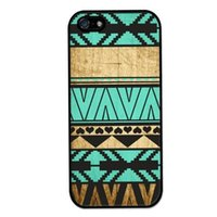 Wholesale Wood Iphone 4s Cases - Wholesale Vintage Aztec Pattern on Wood Hard Plastic Back Mobile Phone Case Cover For IPhone 4 4S 5 5S 5C 6