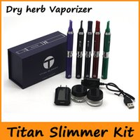 Wholesale Electronic Cigarettes Slim - Titan Slimmer Dry Herb Vaporizer Kit Electronic Cigarette Kits Replaceable Atomizer Coil 7 Colors Available VS Snoop Dogg Pen Kit