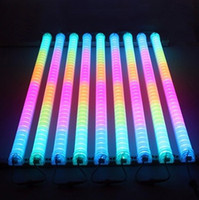 Wholesale Neon Lights Decorating - LED Neon ba Sign IP 66 LED Digital Tube LED DMX tube color change waterproof outside colorful tubes building decorating tube light sportligh