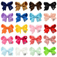 Wholesale Girls Hairclips Ribbons Bows - 3.5 Inch Baby Ribbon Bows With Clip Grosgrain Gairclips Hairclips Girls Barrettes children Hair Accessorie Wholesale - 0015HW