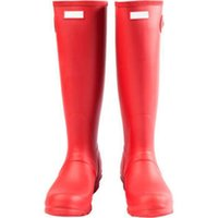 Glossy Red 2017 Hunter Rain Boot impermeable contra el barro Kate El mismo párrafo de Middleton Women Wellington Welly Boots Wellingtons Boost