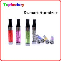 Wholesale Ce4 Dual Coil Clearomizer - Cheaper price E-smart 808D Atomizer CE4 CE5 Clearomizer 1ml Dual Coil Clearomizer versus 808d cartomizer E smart fit for ego 510 battery