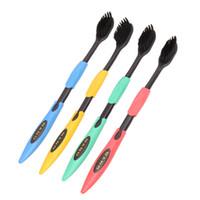 нано бамбук оптовых-Двойной ультра мягкая зубная щетка Bamboo уголь Nano щетка для чистки зубов гигиена полости рта стоматологическая помощь дешевая цена