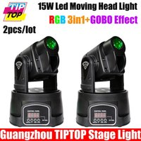Wholesale Moving Head Spot Led 15w - Wholesale-2XLOT 15W LED Mini Moving Head Spot Effect DL Light Moving Head GOBO Light,Stage Effect Light for Bar,Disco Party,Hotel,DJ Club