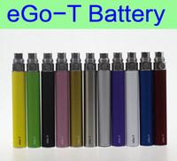 Wholesale Electronic Cigarette Protank - 10 pcs Lot eGo-t battery eGo 650mah 900mah 1100mah batteries electronic cigarettes 510 thread for CE3 CE4 atomizer MT3 protank H2