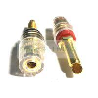 articulaciones doradas al por mayor-40 piezas de hilo largo chapado en oro altavoz de audio encuadernación poste banana