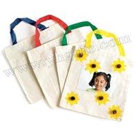 Wholesale School Bags Handbags - 8PCS LOT.Paint unfinished school bags with your picture,Photo handbag,Kindergarten supplies,Kids handbag,Travel bag,22x23cm