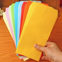 Wholesale Invitation Letter Party - Wholesale- 5pcs bag Korea Cute Solid Colorful Paper Envelope Scrapbooking Party Gift Favor Vintage Envelopes for Wedding Letter Invitations