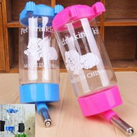 Wholesale Hanging Dog Feeders - Wholesale-Free Shipping Pets Puppy Cat Dog Hanging Drinking Bottle Water Feeder Metal Pipe New Arrival High Quality