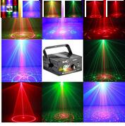 Wholesale Lens Patterns Hot Black Mini Projector Red Green Blue DJ Disco Light Stage Xmas Party Laser Lighting Show v