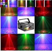 ingrosso luci blu del partito del laser-Trasporto libero, 3 lenti 40 modelli Hot Black Mini proiettore rosso verde blu DJ luce discoteca Stage Xmas Party Laser Lighting Show 110 - 240 v