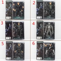 Wholesale Neca Toys Wholesale - NECA The Terminator 2 Action Figure ENDOSKELETON Figure toy Collectable Model Toy 6Styles free shipping EMS