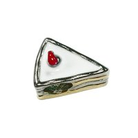 Wholesale Enamel Beads Big Hole - White enamel yummy sandwich girls Eueopean bead metal charm ladies bracelet with big hole Pandora Chamilia Compatible
