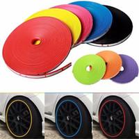 Wholesale Wheel Moulding - Hot sales !8M pcs New Car Styling Car Vehicle Wheel Rims Protector Tire Guard Motors Line Rubber Moulding