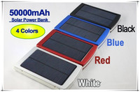 Wholesale Top External Battery Charger - Top selling 50000 mah Solar Charger Power Bank 50000mAh New Portable Charger Solar Battery External Battery Charger Powerbank free shipping