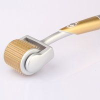 Wholesale Derma Roller Titanium Needles - ZGTS derma roller 192 titanium mirco needles skin roller for cellulite anti aging age pore refine