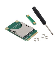 Wholesale Readers Pa - SMAKN® Generic Mini PCI-E to SD SDHC TF MMC Memory Card Reader Adapter as SSD PA-MR04