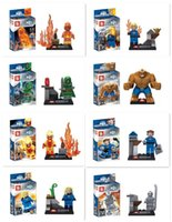 FANTASTIC FOUR 4 SY167 Thing Building Blocks Blocks SY167 Building Blocks 8pcs / set Super Heroes Dr. Doom piedras mágicas
