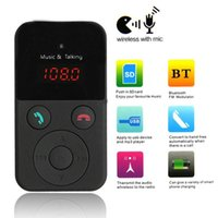 support de la télécommande usb pc achat en gros de-2 pcs / lot Sans Fil Bluetooth Transmetteur FM Modulateur De Voiture Kit MP3 Lecteur LCD Affichage Support SD USB Télécommande CAU_303