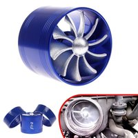 Wholesale Fuel Gas Saver - TURBO F1-Z Air Intake Gas Fuel Saver SINGLE Propeller Fan Universal Fit Turbine Turbocharger