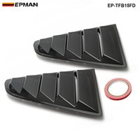 Wholesale Carbon Sand - EPMAN -2PCS SET Sand Sprayed Or Specular or Carbon Fiber Side Window Quarter Scoop Louver Cover For Ford Mustang 2015-17 GT EP-TFB15FD