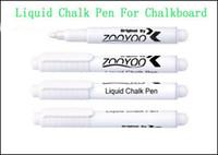 Wholesale Cheap Chalkboards - Liquid Chalk Pen Erasable Chalk Pen Nursery Wall Sticker for Chalkboard White Liquid Chalk Pen Tested by SGS Cheap Mural Erasable Liquid