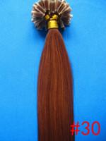 ingrosso auburn estensioni capelli u tip-All'ingrosso-5A 1 g / s 100 g / pacco 14 '' - 24
