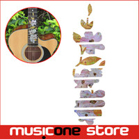 Wholesale Electric Guitar Decals - Guitar Inlay Stickers Flower Guitar Fretboard Decals For Acoustic Electric Guitarra Fret Neck New MU1288-26