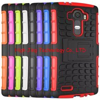 Wholesale Lg G2 Armor Cases - Heavy Duty Rugged Dual Layer Armor KickStand Cover For LG G2 G3 G4 L70 G stylo G4 note leon spirit nexus5 2015 case