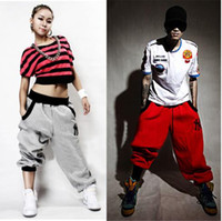 Wholesale women baggy dance pants - Wholesale-Brand Designer Men Women Casual Sport Pants Summer Baggy Hip Hop Dance Pants Harem Pant For Men Women