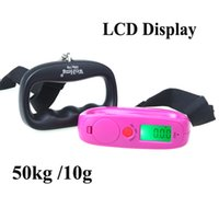 Wholesale Scale Oz Kg - Digital Portable Electronic Lage Scale Weight Hanging Scale LCD Display kg lb oz g Black 50kg 10g order<$18no track