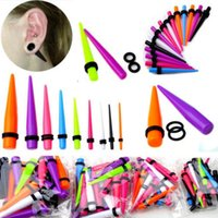 Wholesale Hot Acrylic Ear Plug Taper Kit Gauges Expander Stretcher Stretching Piercing