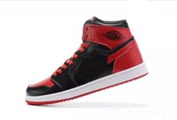 Wholesale I Shoes Boots - Fashion New Arrival Mens Basketball Shoes Men Air Retro 1 Dan I High Cut Boots High Quality Sneakers Red Sports Shoes Size US7-12
